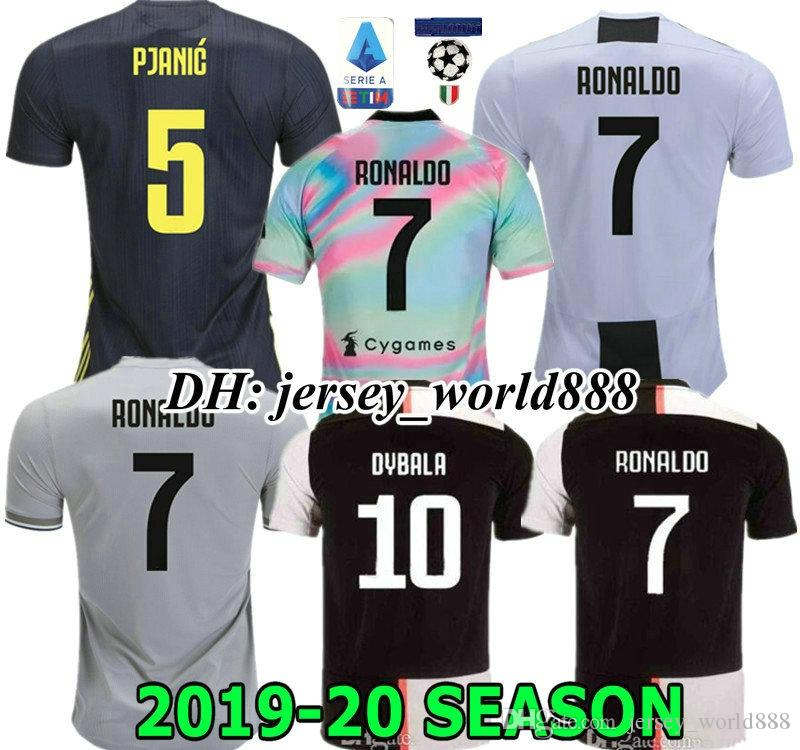 64735ffdbaa 2019 RONALDO DYBALA MATUIDI 19 20 POGBA Adult Man PJANIC CR7 Jersey Home  Soccer 2019 2020 CUADRADO MANDZUKIC Juventus Kids Boy Kit FOOTBALL Shirt  From ...