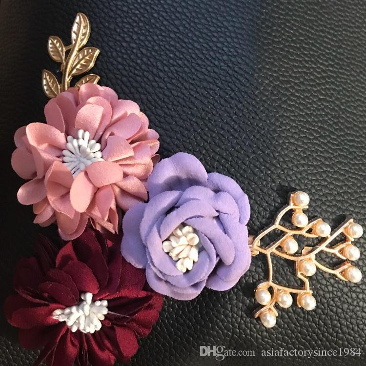 Flowers Women s Tote Leather Clutch Bag Small Ladies Handbags Women ... a1dc6a6e0d6c3