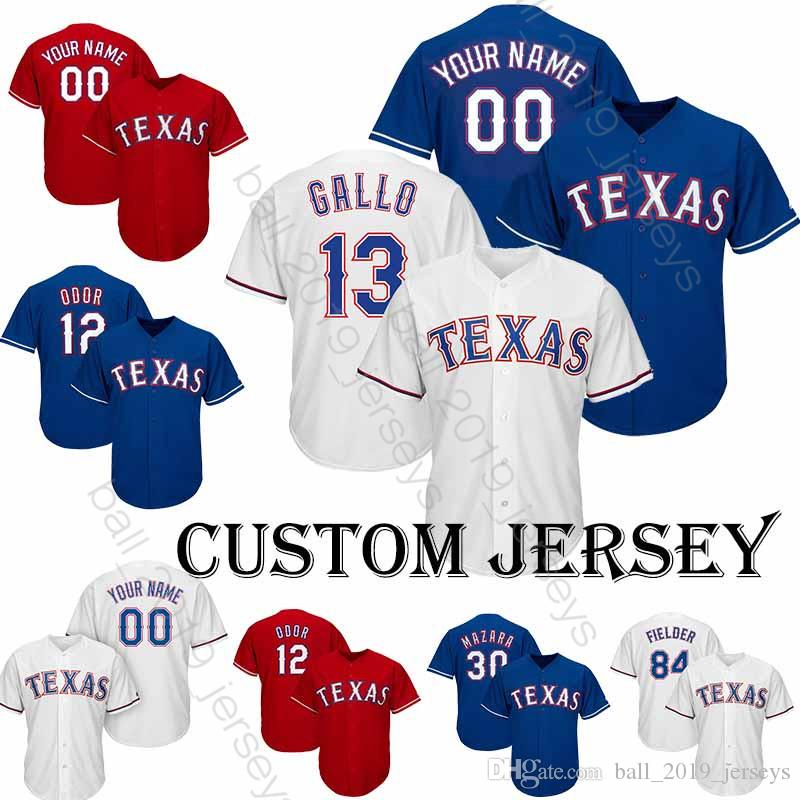 new product a136e 45697 Texas jersey Rangers 12 Rougned Odor jersey Baseball Custom jersey 1 Elvis  Andrus 29 Adrian Beltre 13 Joey Gallo T shirt