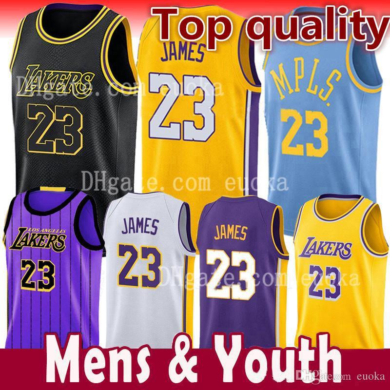 new concept 1e338 bf75a LeBron James 23 Los Angeles Jersey Lonzo 2 Ball Kyle 0 Kuzma Brandon 14  Ingram 24 Kobe 8 Bryant Basketball Jerseys