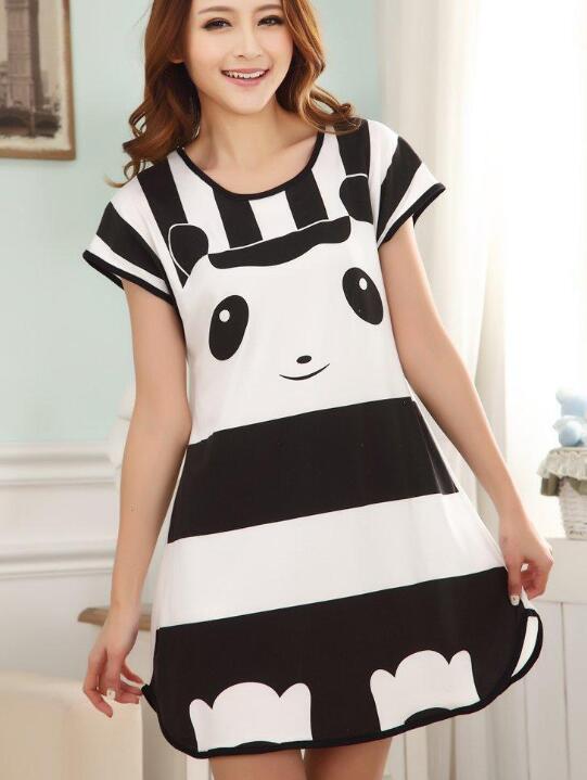 14bf36c42d Cute Women Casual Cartoon Nightwear Sleepwear Short Sleeve Sleep Dress PY1  Online with  22.53 Piece on Laiwun s Store