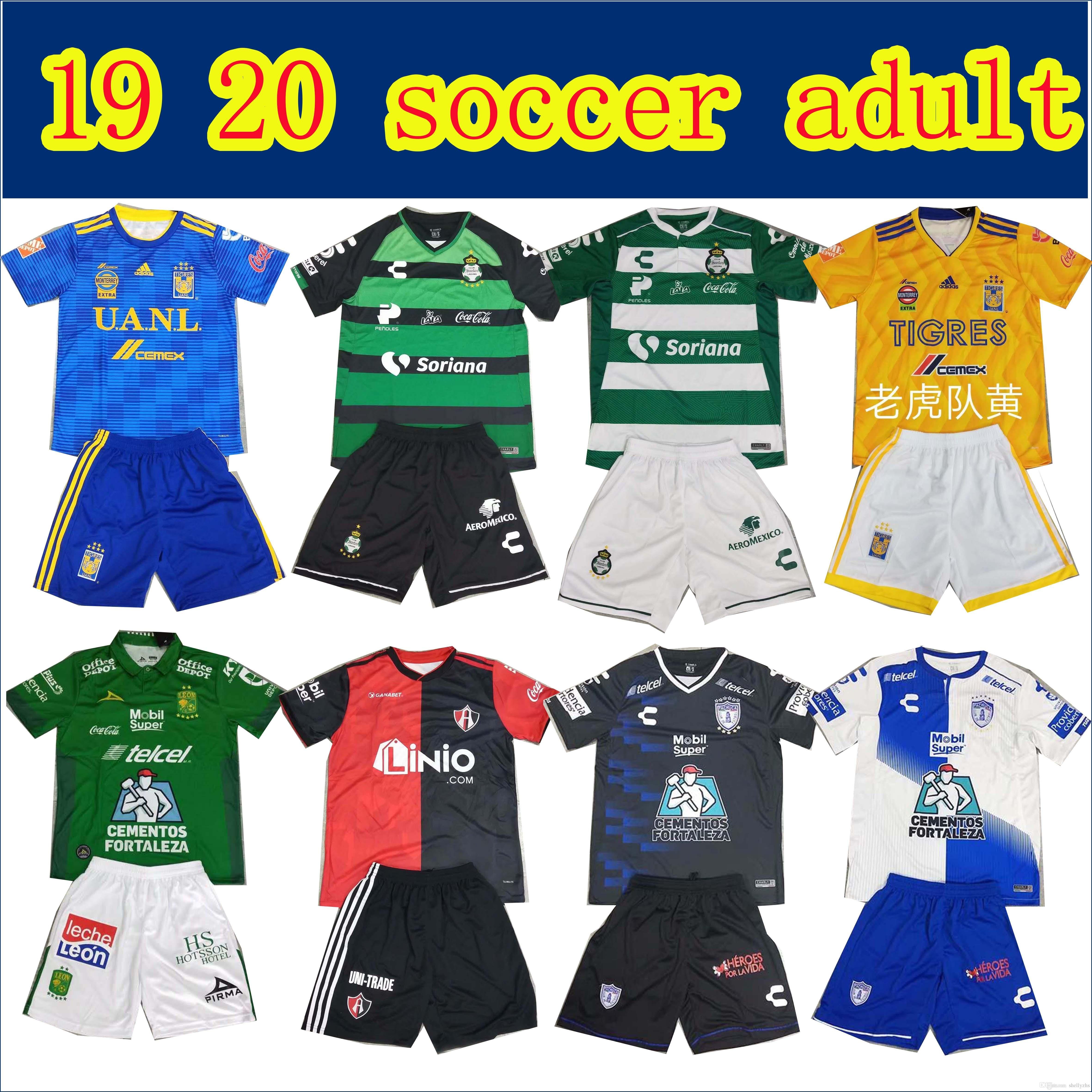 72f831e19 2019 AAA+ Quality 2018 19 Santos Laguna Tigres Pachuca Mens Football Kits  Home Adult Soccer Jerseys 18 19 Atlas Santos Camisetas De Futbol From  Shellyzhs