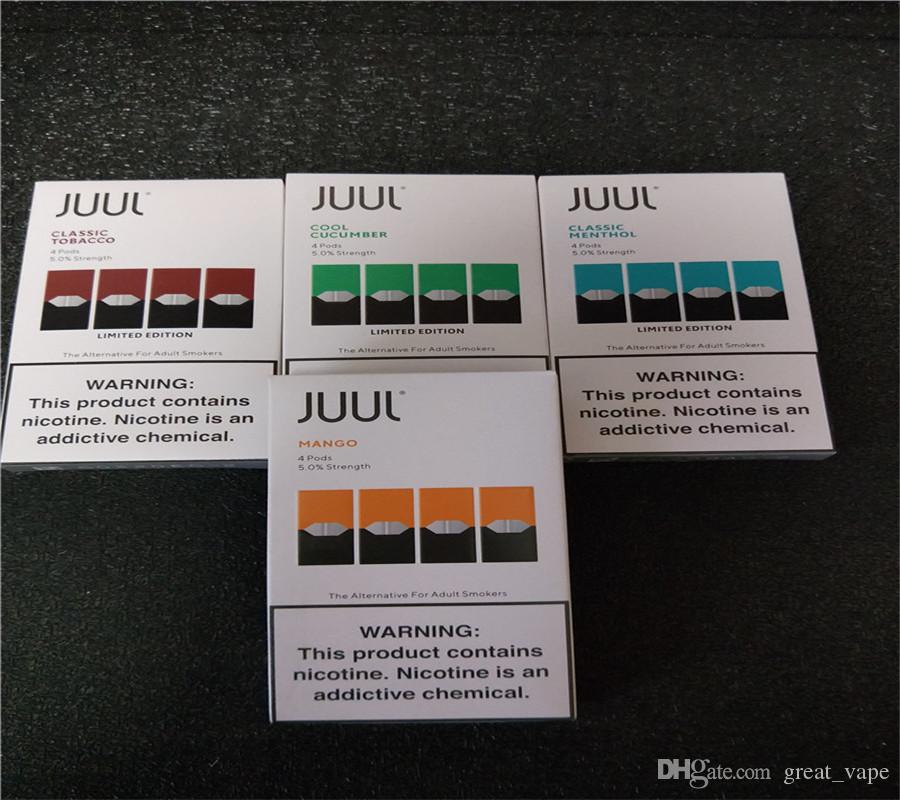 Best Rda For Flavor 2020 2020 DHL FRE JUUL Pods Newest Package 8 Flavors Mango Cool Mint