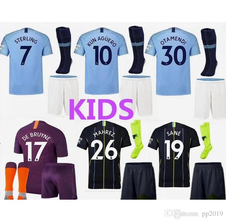 3a331cc6c 18 19 Manchester City Soccer Jersey G.JESUS KUN AGUERO SANE STERLING ...
