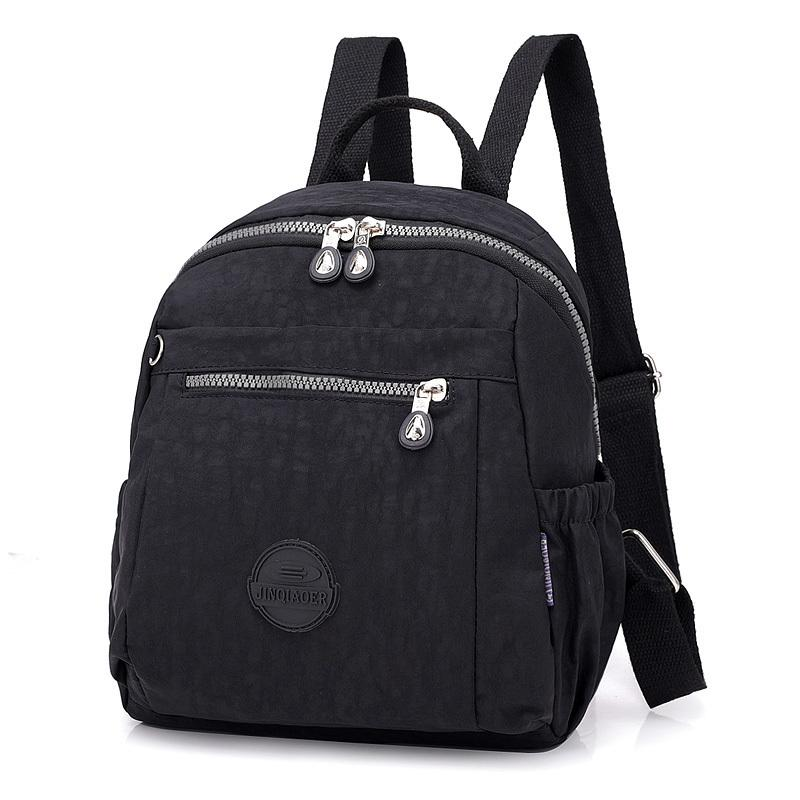 cf65dc9dc002 Women Backpacks Nylon Student School Bags Girl Knapsacks Female Casual  Packsack Travel Shoulder Bag Ladies Rucksack Mochila Rucksack Backpack Boys  Backpacks ...