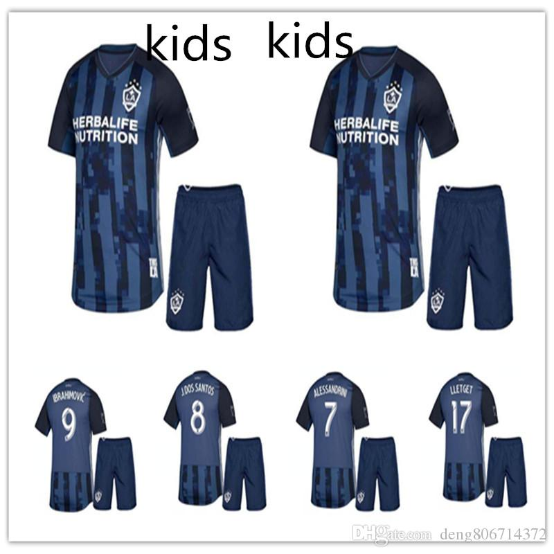 KIDS Kit 2019 MLS LA Galaxy Soccer Jersey 19 20 Los Angeles Galaxy  IBRAHIMOVIC GIOVANI DOS SANTOS KAMARA Football Jerseys Shirt