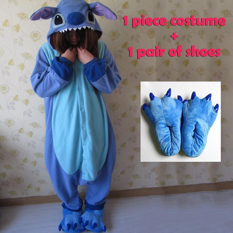 04f2fb31b9 Compre Traje De Pijamas Cosplay Animal Onesies De Las Mujeres Para Adultos  Pijamas Del Partido De Una Pieza Azul Rosa Puntada Onesie Trajes A  41.12  Del ...