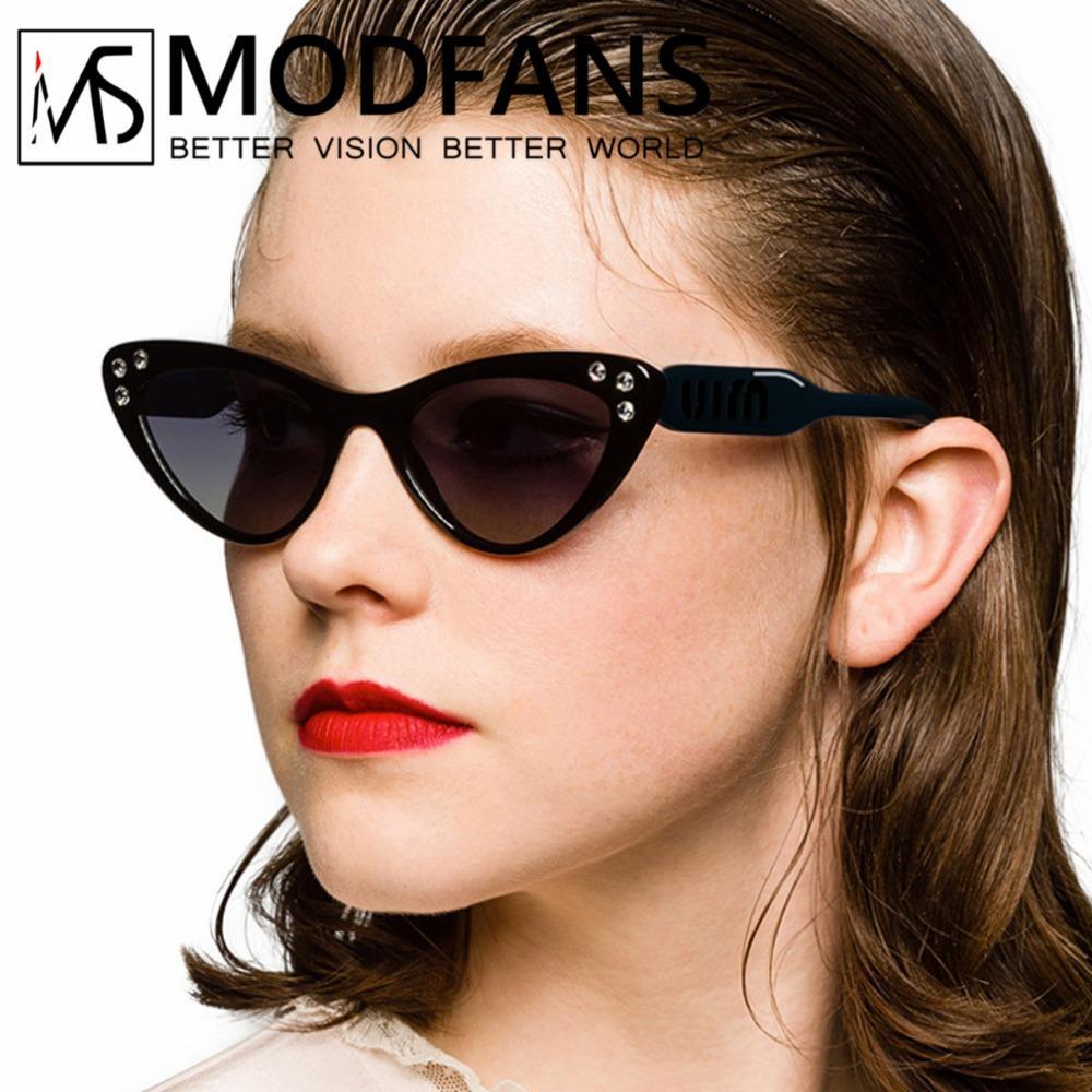 Compre Gafas De Sol De Ojo De Gato Con Rombos De Sol Para Mujer Gafas De Sol  De Marca Espejuelos De Espejo Vintage Gafas De Sol Femeninas 2019 Nuevo A  ... 37904a193712
