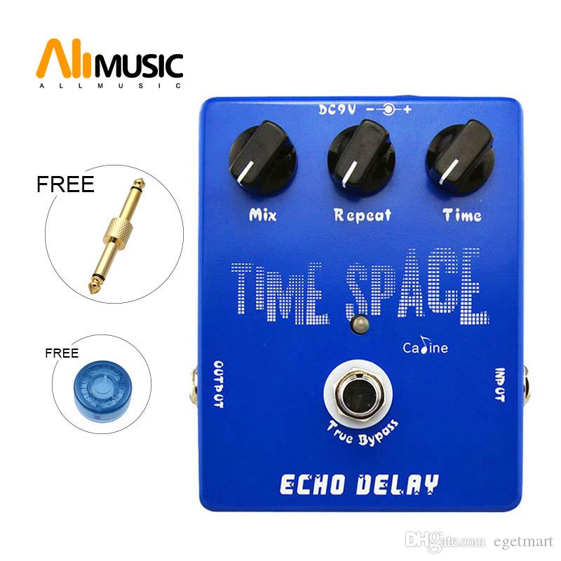 Wholesale Caline CP17 Time Space Echo Delay Digital Guitar effect Pedal 600ms Max True Bypass Free Drop shipping Free connector
