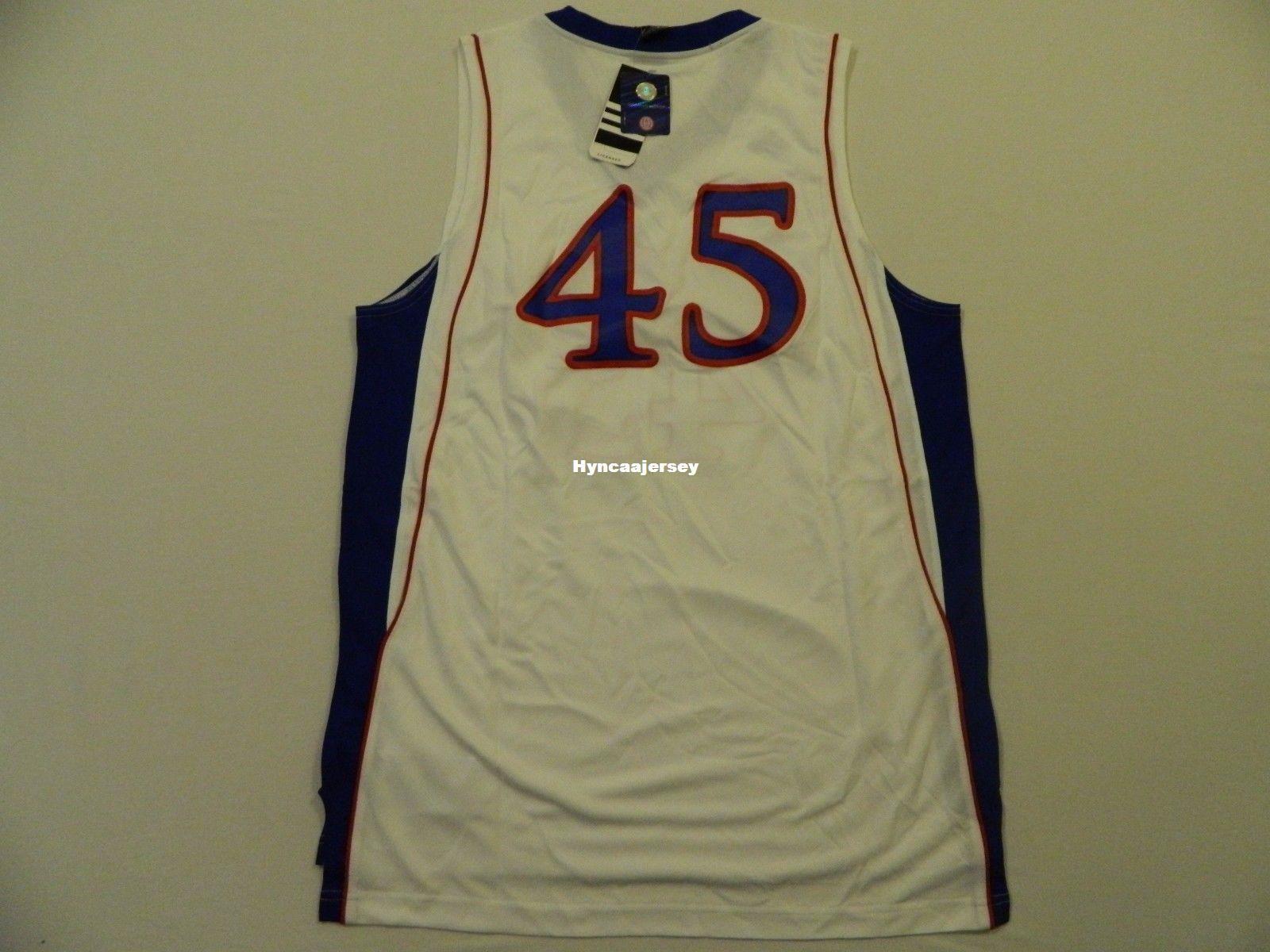 best sneakers f7cad 4d520 Cheap custom Retro New Kansas Jayhawks 45 White AD Basketball Jersey MEN S  Stitched Vintage sleeveless vest jerseys Ncaa