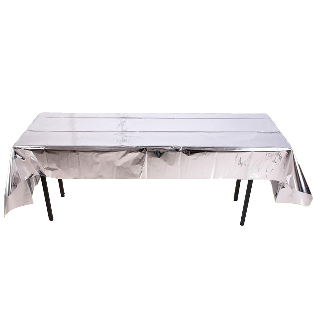 الجدول القماش مستطيل PET مفرش طاولة لامعة الغلاف الكتان للحزب / عرس / للولائم / مطعم في الألوان الصلبة