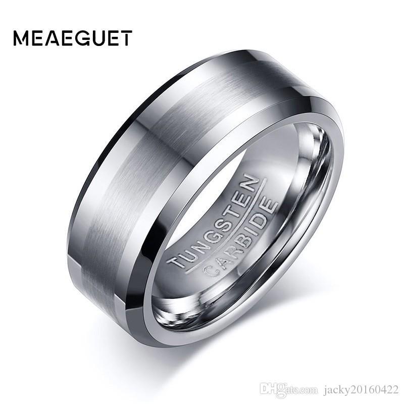 bcd4e202731e Compre Meaeguet 8MM Anillo De Carburo De Tungsteno 100% Clásico Para  Alianzas De Boda Anillos De Tungsteno Para Hombres Nunca Se Oxidan A  12.3  Del ...