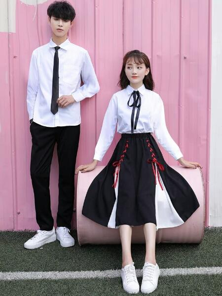 6d93e151a7eaee College Style of New School Uniform Suit in 2019 Korean Junior and High  School Students'Class Dress in Autumn Korean Edition Chao Japanese S