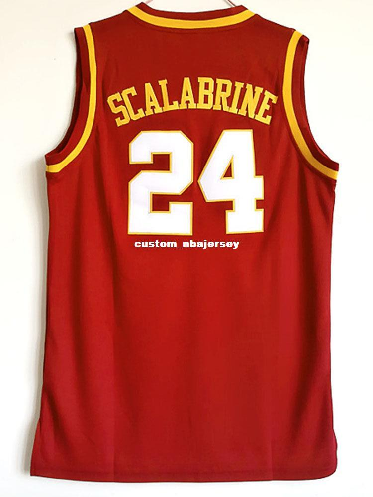 8c4082fccc3 2019 Cheap Wholesale Brian Scalabrine 24 Usc College Stitched Red Basketball  Jersey Customize Any Name Number MEN WOMEN YOUTH Basketball Jersey From ...