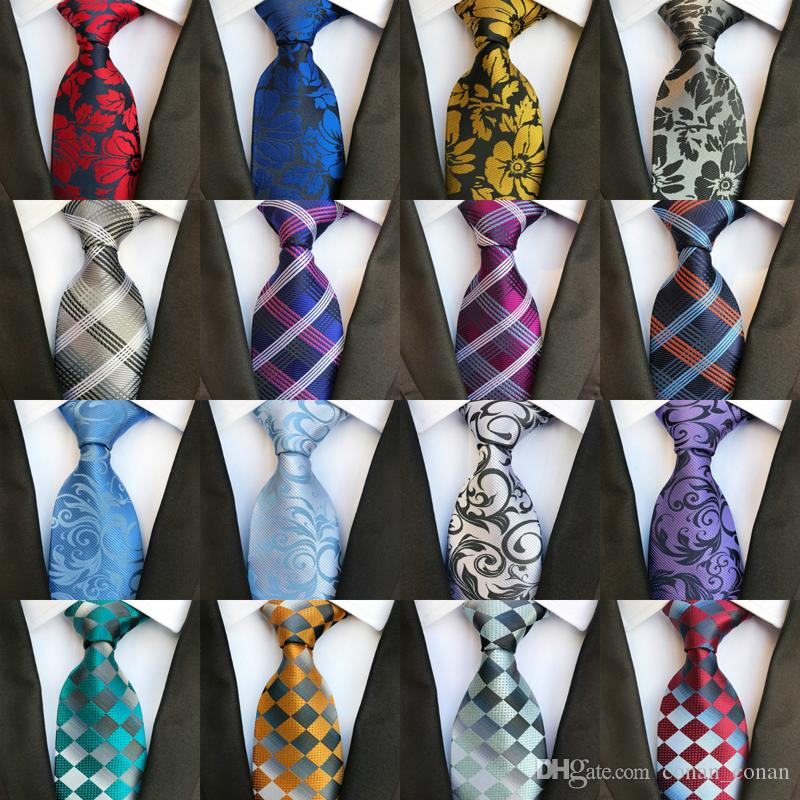b8994c5aa7 295 Styles 8cm Men Silk Ties Fashion Mens Neck Ties Handmade Wedding Tie  Business Ties England Paisley Tie Stripes Plaids Dots Necktie Tie Neck  Blouse ...
