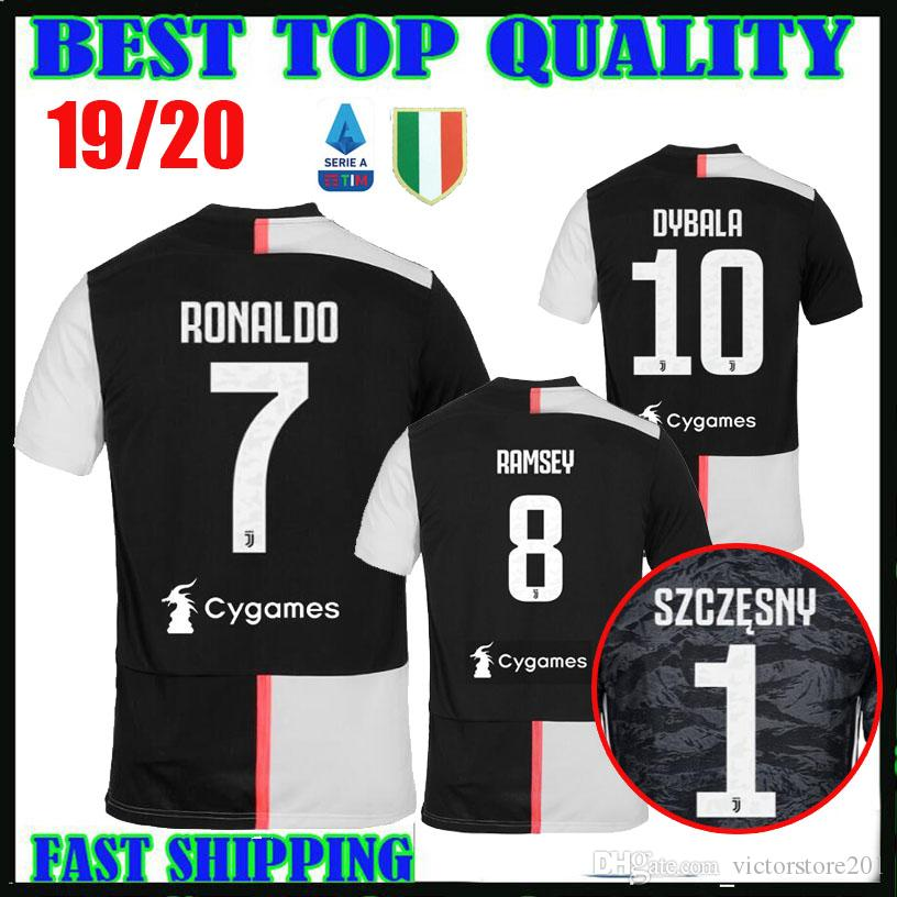 a19dbae66 2019 19 20 RONALDO Juventus Soccer Jerseys DYBALA 2019 2020 Champions  League Home MANDZUKIC RAMSEY MATUIDI Football Shirts Goalkeeper Thailand  From ...