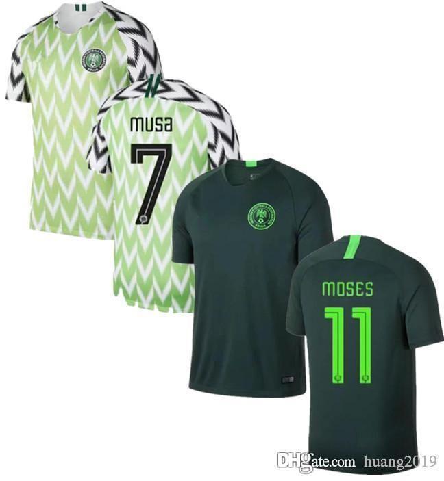 1a31e8f4a 2019 Thai Version 2018 World Cup Nigeria Soccer Jersey MUSA Ighalo MIKEL  MOSES SHEHU IHEANACHO IWOBI NIGERIA 2019 Sports Shirt From Huang2019
