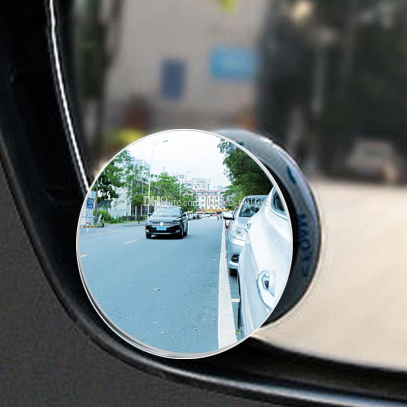 Universal 2pcs Car Rear View Mirror 360 Rotating Safety Wide Angle Blind Spot Auto Rearview Mirror Parking Round Convex Accessories