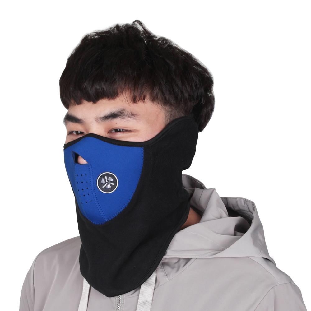 Active Outdoor Sport Snowboarding Facemask Cycling Bike Half Face Mask Bicycle Skull Windproof Men Winter Ski Male Motorcycle Ghost Set Sports & Entertainment Sports Face Masks