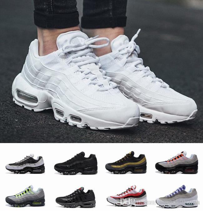 5ce22dd7d Discount 2018 Maxes Men 95 OG Cushion Navy Sport Hot Sale Chaussure 95s  Walking Boots Men Casual Shoes Cushion 95 Sneakers 36-45 95 SHOES 95 OG  Originals 95 ...