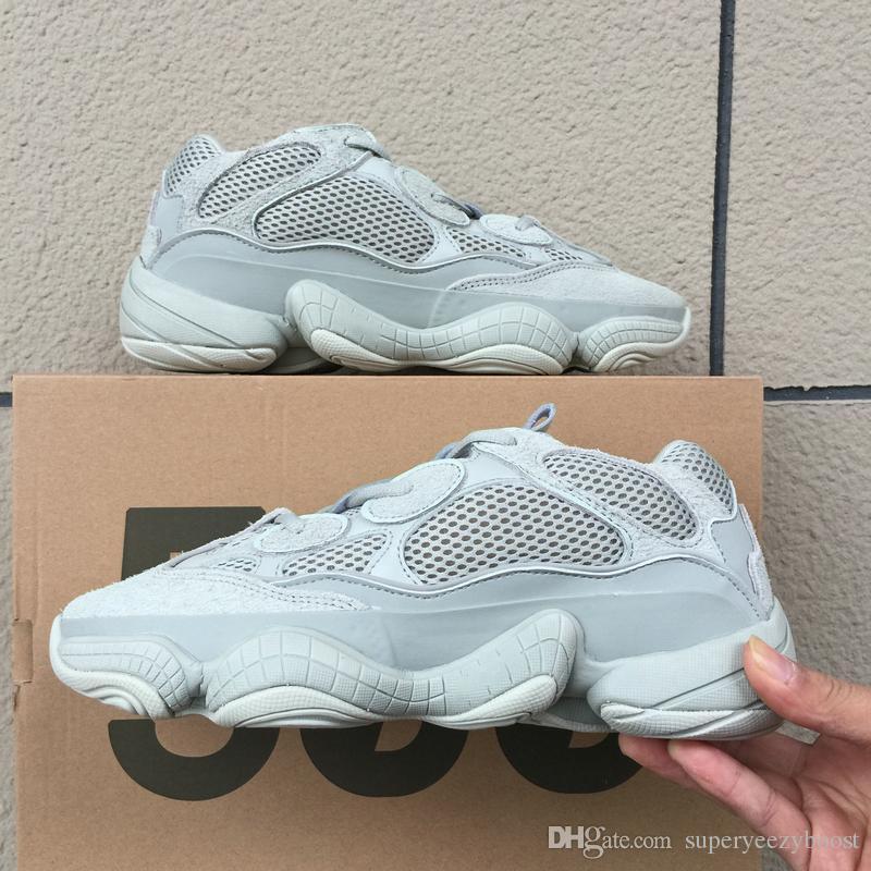 9d5070483 Compre Adidas Yeezy 500 Desert Rat 500 Salt Designer Shoes Para Hombre Super  Moon Yellow Utility Negro Kanye West Zapatos Para Correr Para Mujer  Zapatillas ...
