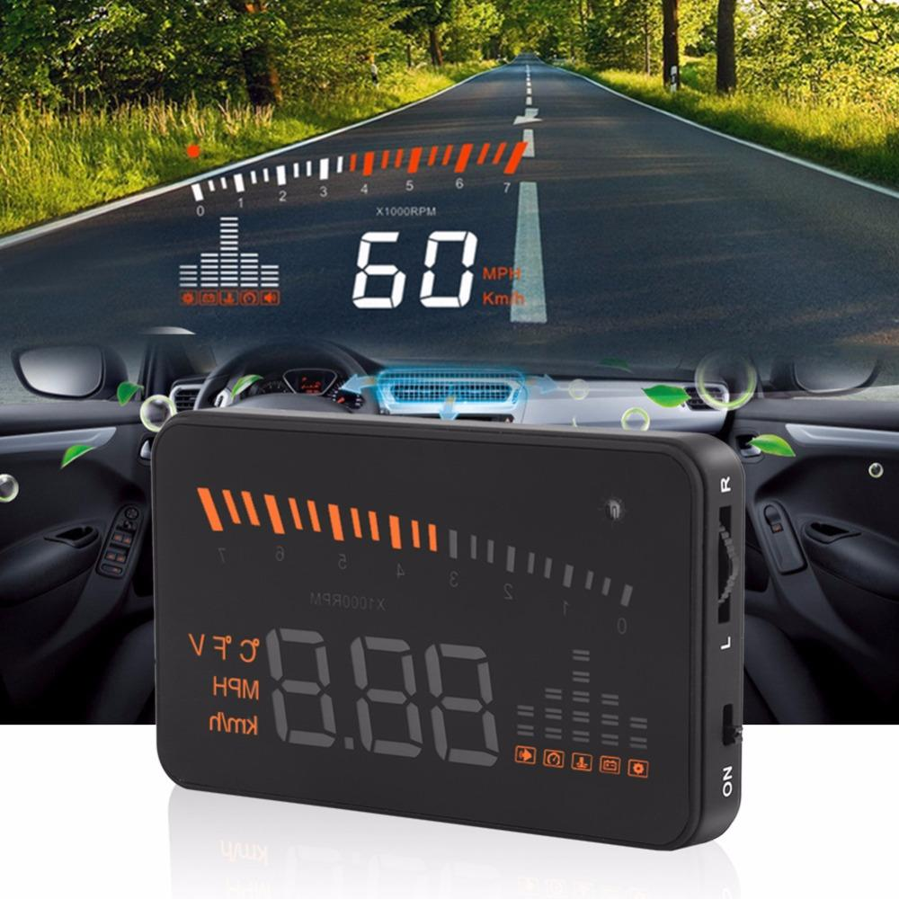 Freeshipping X5 HUD Head Up Display Car HUD Head Up Display Car Styling Speed Alarm OBD II Head-up Display OBD2 Interface Promotion Original