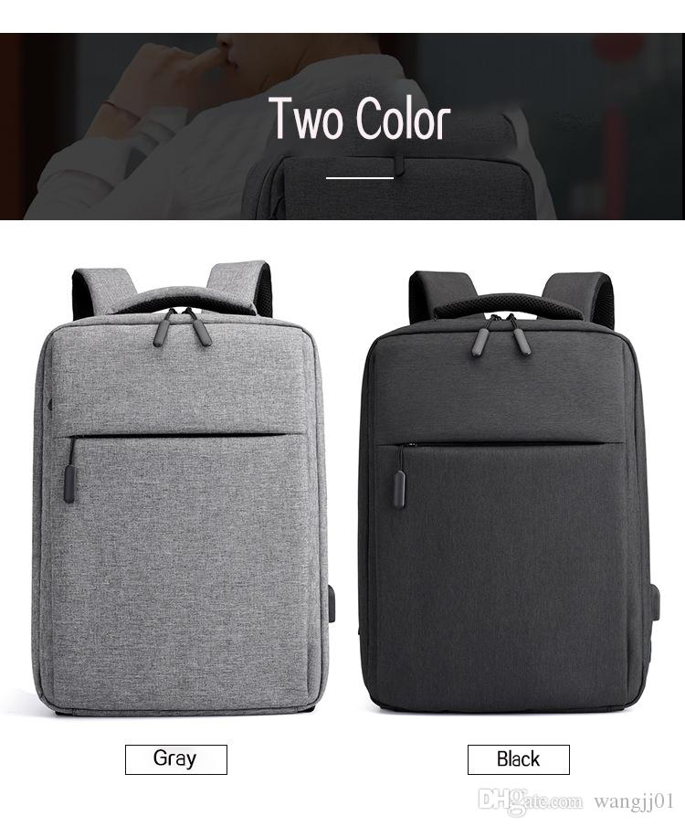 2018 New Mens Backpack Computer Bag for Apple Dell Laptop Bag Waterproof Shockproof Lenovo USB Charging Backpack Black