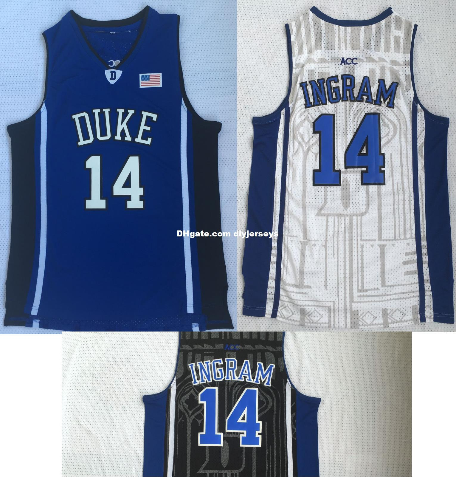 cf9e700bb2d Wholesale Cheap Brandon Ingram #14 College NCAA Mens Basketball Jersey White  Blue Black S - 2XL Wholesale Cheap Brandon Ingram #14 College Basketball  Jersey ...
