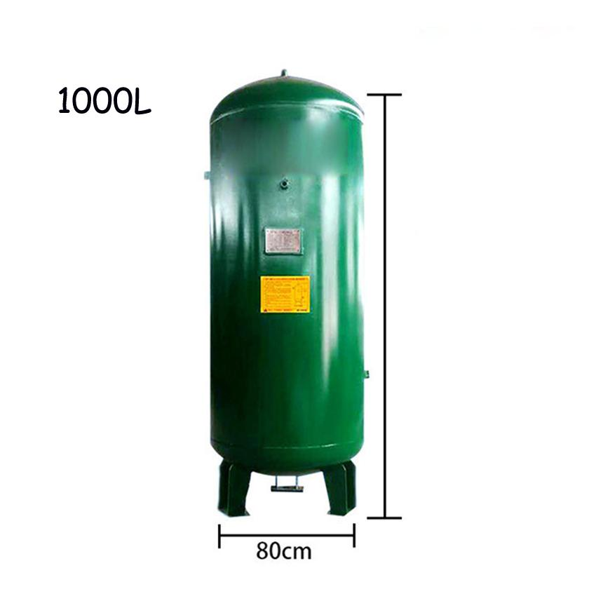 Air Compressor Gas Storage Tank High-quality Vertical Vacuum Tank Carbon Steel Gas Cylinder Air 1000L 8KG 0.8Mpa Rp3/4 R1/2