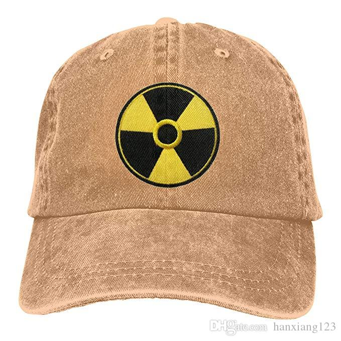 42ed289d786 2019 2019 New Cheap Baseball Caps Nuclear Radiation Warning Sign Mens  Cotton Adjustable Washed Twill Baseball Cap Hat From Hanxiang123