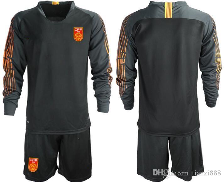 1819 China Men Soccer Jersey Goalkeeper Shirts Short Sleeve Uniforms  Football Sets ZENG G. WANG D.L. YAN J.L. Long Sleeve Goalkeeper Kit UK 2019  From ... 7bb69f2b5