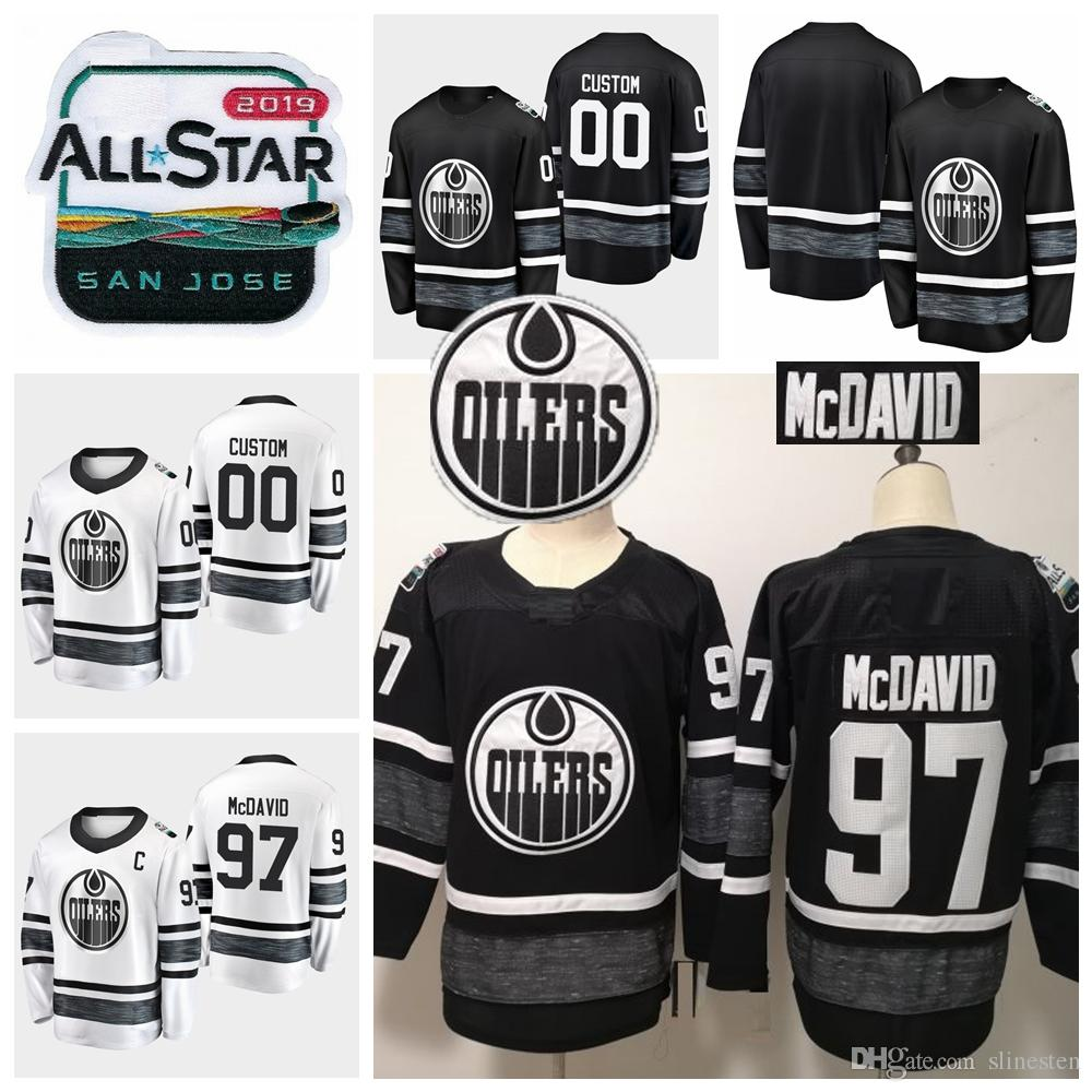 01e31b43ba9 2019 2019 All Star Game Connor McDavid Customize Edmonton Oilers Hockey  Jerseys Black White Jersey  97 Connor McDavid Stitched Shirts S XXXL From  Slinesten