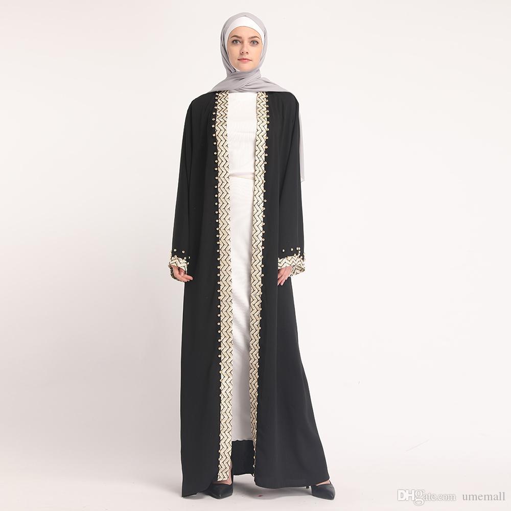f5656a2fb61d24 Acquista Le Ultime Donne Musulmane Del Cardigan Del Vestito Lungo ...