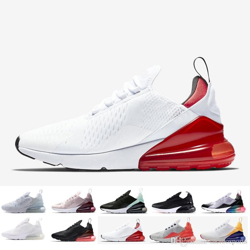 outlet store sale 569ee ca52c 2018 New 270 Running Sports Shoes 27c Sales cheap 270S Black White Red Blue  Cushion Run Women Men Trainer Training Sneakers