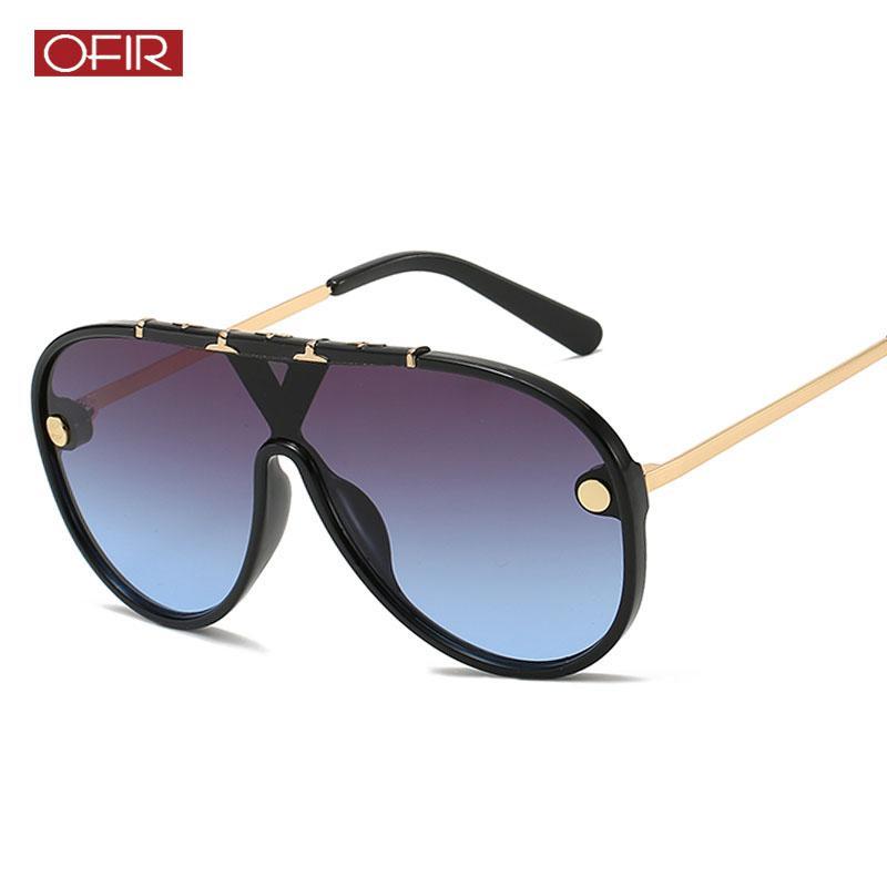 01028c55f1f48 2019 Oversized Sunglasses Vintage Brand Driving Sun Glasses Women Men Flat Top  Big Frame Sunglass Retro Siamese Eyewear UV400 Eyewear Designer Sunglasses  ...