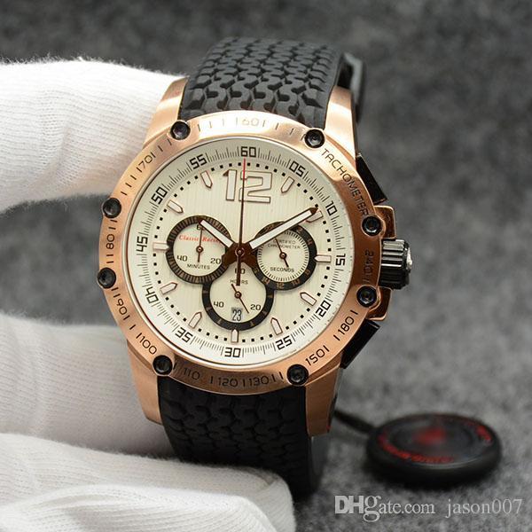 4910b8a41 Compre Hombres Simples Y Elegantes Relojes De Pulsera 45.5 MM Cuarzo ...