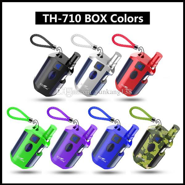Authentic Kangvape TH-710 Box kit Box Mod kit with 650mAh Battery 0 5ml 510  K1 Cartridge G2 Atomizer 100% Original