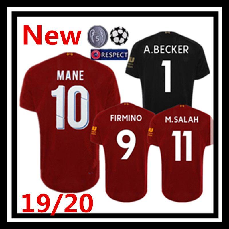 pretty nice c9110 6c4c1 Free shipping 2019 2020 Mohamed Salah home Soccer Jersey 19 20 MANE Tops  VIRGIL Football shirt KEITA FIRMINO ALISSON BECKER mens jersey