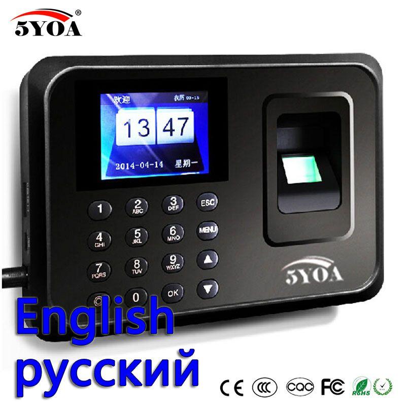 A01 Biometric Attendance System USB Fingerprint Reader Time Clock Employee  Control Machine Electronic Device Russian English