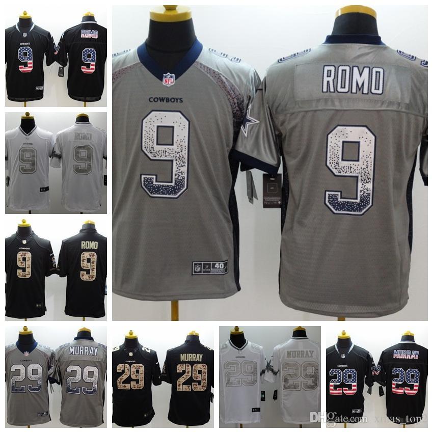 e538d97e9 2019 New Mens 9 Tony Romo Jersey Dallas Cowboys Football Jersey 100%  Stitched Embroidery 29 DeMarco Murray Color Rush Football Shirts Custom Tee  Shirt ...