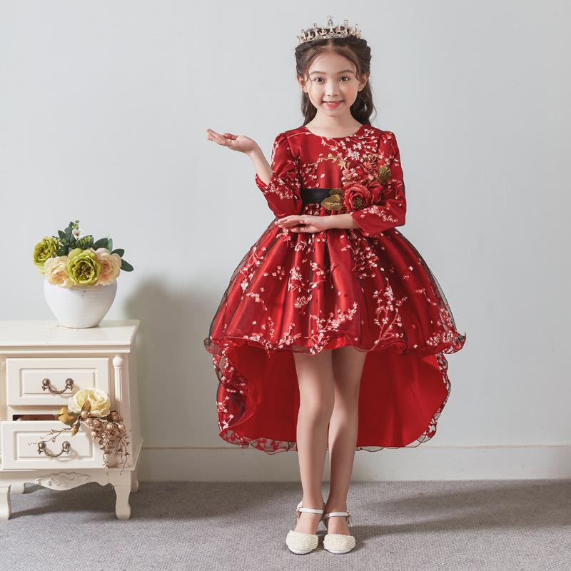 Hot 2019 Girls Lace Party Dresses Children Christmas Party Cotton Lace Dresses Girls Fashion Princess Clothes Summer
