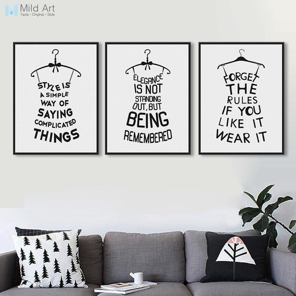 2019 all pictures originality minimalist black white typography fashion beauty quotes a4 art print poster wall picture canvas paintings home d