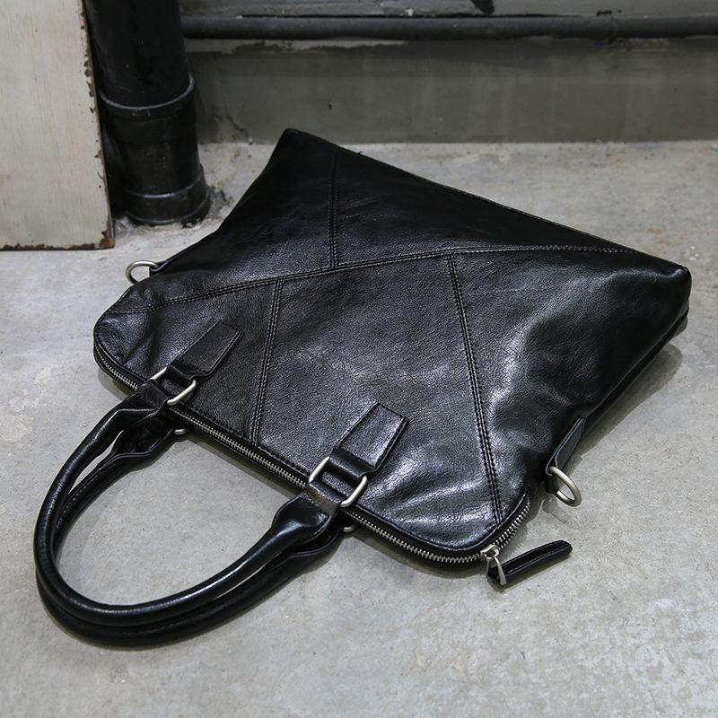 49fe41d6c3c6 New Fashion Black Handbag Men Messenger File Bags Pu Leather Man Bags Black Male  Men S Briefcase Man Casual Shoulder Bag Soft Tactical Briefcase Briefcase  ...