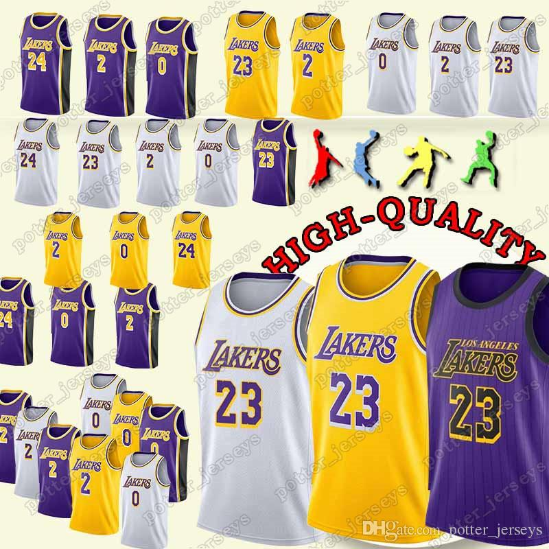 100% authentic 00858 bc6da Cheap sales Los Angeles 23 LeBron James Jerseys Lakers 24 Kobe Jersey  Bryant 0 Kuzma 2 Bal Jersey 2019 new