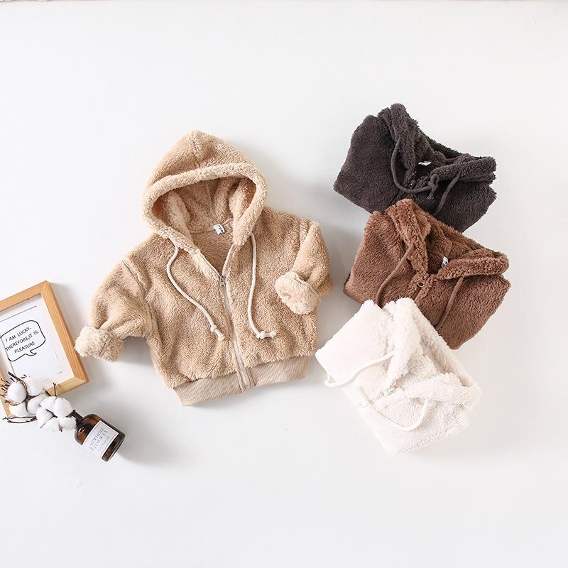 ae2ee3e885530 Fashion Winter Baby Girls Faux Fur Fleece Coat Baby Boys Warm Jacket Xmas  Snowsuit Toddler Hooded Outerwear Children Clothes Children Leather Jacket  Toddler ...