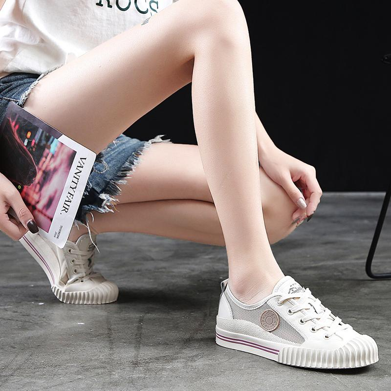 Magic2019 Shoes. Biscuits Ventilation Small White Shoes Dawdler Shoe Women's Shoes Network Panel Shoe Shell Head