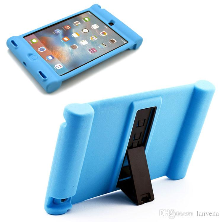 newest 5c707 43fc0 Silicone Case for iPad 4 Air Mini Pro 9.7 10.5inch 2018 Kids Safe  Shockproof Rubber Stand Cover