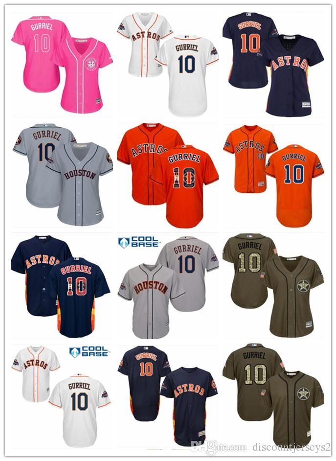 new styles 4e7bf a3526 2019 top Astros Jerseys #10 Yuli Gurriel Jerseys men#WOMEN#YOUTH#Men s  Baseball Jersey Majestic Stitched Professional sportswear