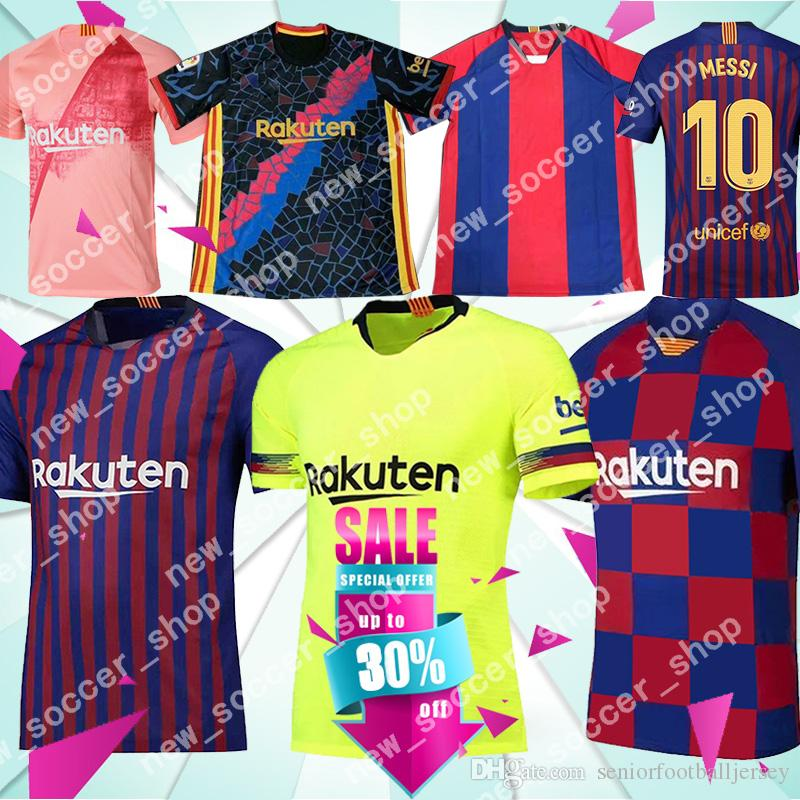 c88c5388f 2019 10 Messi Jersey 2018 2019 Men Barcelona Soccer Jersey 9 Suárez 8 A.  INIESTA 11 Dembélé 26 MALCOM Kids Kits Football Uniforms From  Seniorfootballjersey