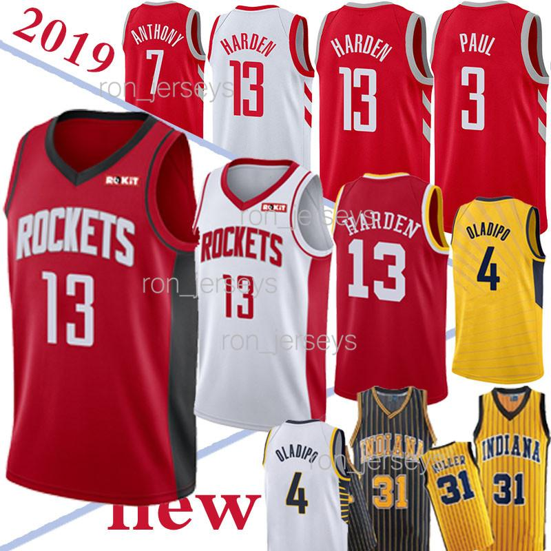 TOP NCAA 13 Harden jerseys Houston 31 Miller Chris 3 Paul 4 Oladipo Hot Sale Jersey 18/19 New 100% Stitched jersey